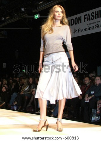 London Fashion Week Spring/ Summer 2006. A piece from Amanda Wakeley Collection.