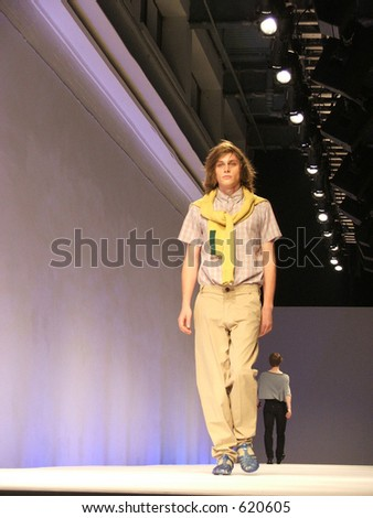 London Fashion Week Spring/ Summer 2006. A piece from MAN collection.