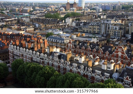 London Housing from the air #315797966
