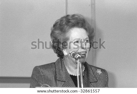 LONDON-JULY 1: Margaret Thatcher, British Prime Minister, speaks on July 1, 1991 in London. She was Prime Minister from 1979-1990.
