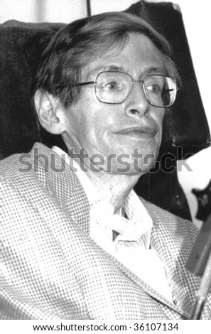 LONDON-JULY 2: Professor Stephen Hawking, British Theoretical Physicist, attends a press conference on July 2, 1992 in London.