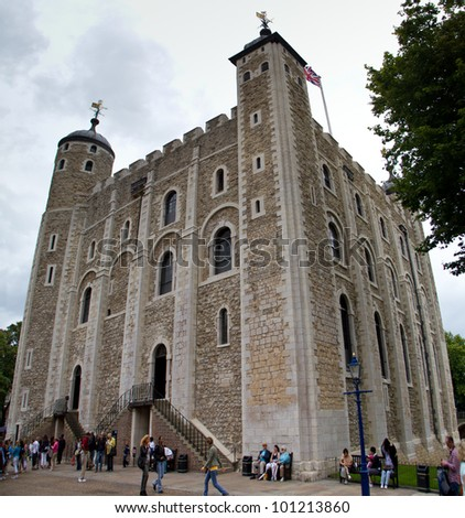LONDON - JULY 20: The White Tower witnessed the executions of 12 men for espionage during World War 2 adding to its reputation as a place of torture and death July 20, 2011 in London, England