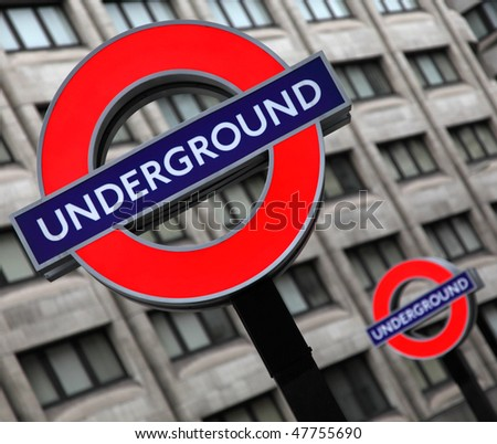LONDON - JULY 29: Transport for London announced that the 'Underground' logo will also be used for other transportation systems in London on July 29, 2009.