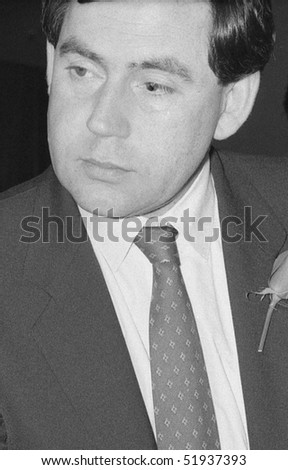 LONDON - MAY 24: Gordon Brown, British Prime Minister & Labour Party Leader, attends a press conference on May 24, 1990 in London.