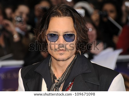 LONDON - MAY 9: Johnny Depp attends the UK premiere of the cult classic series of 'Dark Shadows' at the Empire Leicester square on May 9, 2012 in London.