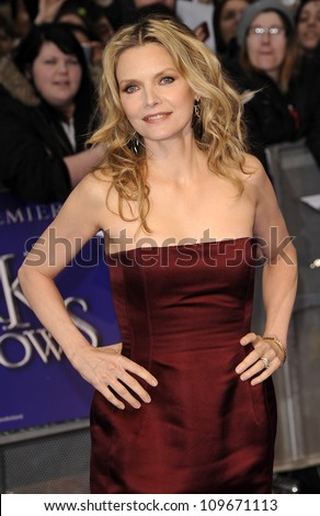 LONDON - MAY 9: Michelle Pfeiffer attends the UK premiere of the cult classic series of 'Dark Shadows' at the Empire Leicester square on May 9, 2012 in London.