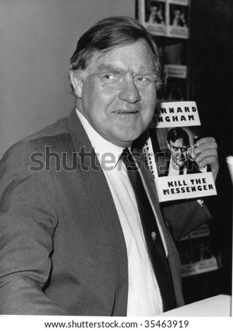 LONDON-MAY 22: Sir Bernard Ingham, former Press Secretary to British Prime Minister Margaret Thatcher, at a book signing event on May 22, 1991 in London.