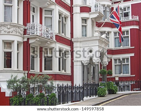 London, Mayfair district, elegant townhouse