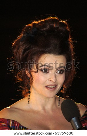 LONDON - OCTOBER 21: Helena Bonham Carter At The King's Speech Premiere October 21, 2010 in Leicester Square London, England.