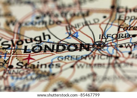 London on the map.