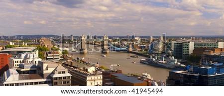 London panorama including Tower Bridge