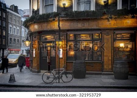 London Pub illustration 2