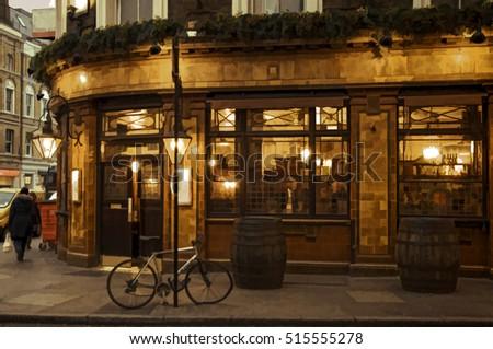 London pub illustration 3. version