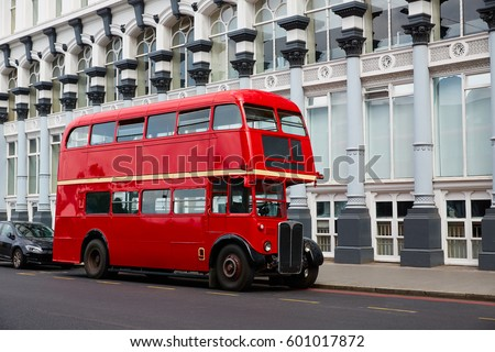 london red bus traditional old...
