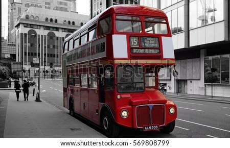 london red double decker