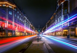 London regent street at night