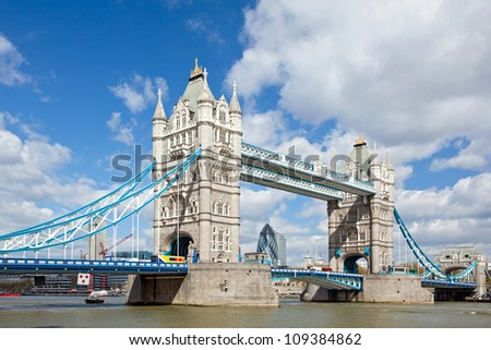 London River Thames and Tower Bridge International Landmark of England United Kingdom