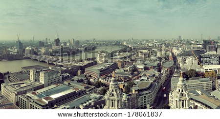 London rooftop view panorama with urban architectures