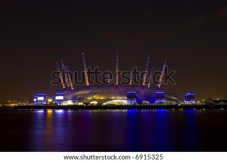 London's Millennium Dome at Night