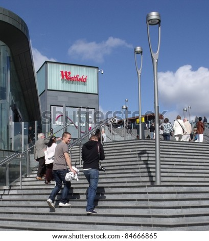 LONDON- SEPT 13: Crowds of shoppers visit Londons newest and biggest shopping centre, Westfield Stratford city, on its opening day in London on Sept 13, 2011.