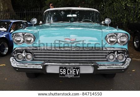LONDON - SEPTEMBER 04: A vintage Chevrolet at Chelsea AutoLegends, on September 04, 2011 in London.