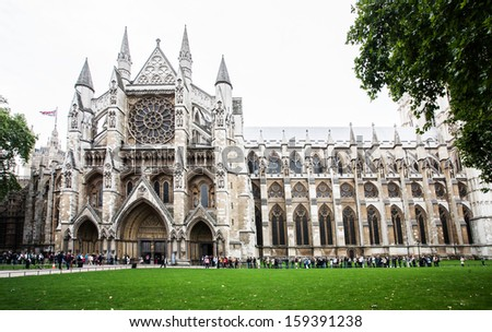 LONDON - SEPTEMBER 20: The Westminster Abbey and Westminster Abbey Choir School, September 20, 2013.