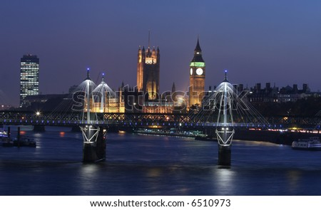 London skyline at twilight