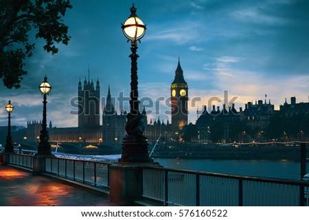 london sunset skyline bigben...