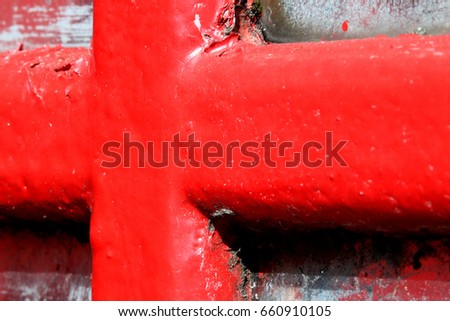 London telephone box: Abstract colour photograph, close up of a telephone box in Chelsea, London, UK.
