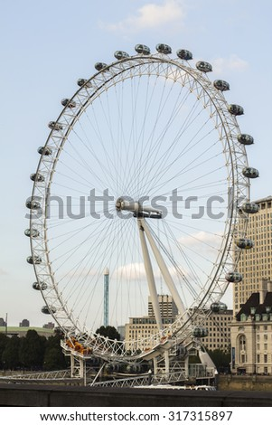 LONDON: The London Eye on 15.09.2015 in London. The entire structure of the London Eye is 135 meters tall and the wheel has a diameter of 120 metres.