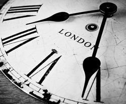 London time clock countdown concept