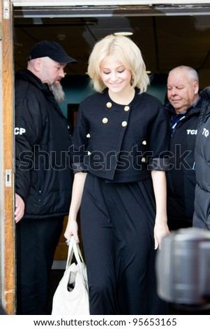LONDON, UK - FEB. 20: Singer Pixie Lott at  the BBC Maida Vale Studios in London on the Feb 20, 2012 in London, UK