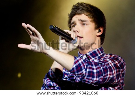 LONDON, UK - JAN. 23:Liam Payne From One Direction Play the Apollo in London on the January 23, 2012 in London, UK