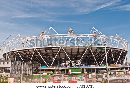 LONDON, UK-JUNE 5: The Olympic Stadium Under Construction Ready For The 2012 Olympic Games Which Will Be Held In The City Of London, June 5, 2010, London, UK