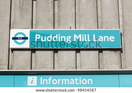 LONDON, UK - MARCH 24: Docklands Light Railway station Pudding Mill Lane, the closest station to the Olympic Park, on March 24, 2012 in London.