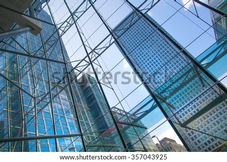 LONDON, UK - MAY 1, 2015: Canary Wharf business centre view - Shutterstock ID 357043925