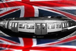 London Underground with flag of England