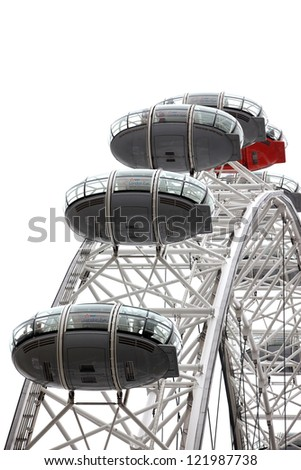 LONDON, UNITED KINGDOM - JUNE 6: London Eye on June 6, 2011 in London, United Kingdom is the tallest Ferris wheel in Europe at 135 meters