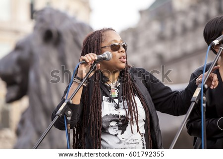 London, United Kingdom - March 11, 2017: Million Women Rising. A Million Women Rising is a march by only women to protest the violence against women around the world. It is diverse and inclusive. #601792355