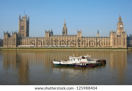 London Westminster and ships