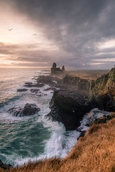 Londrangar during sunset - Iceland