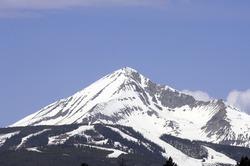 Lone Mountain located at Big Sky, Montana.