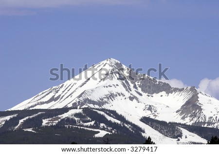 Lone Mountain located at Big Sky, Montana.