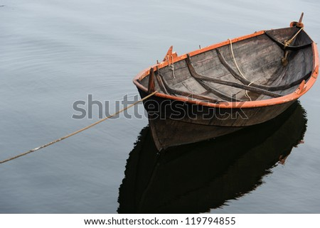 Lone rowing boat