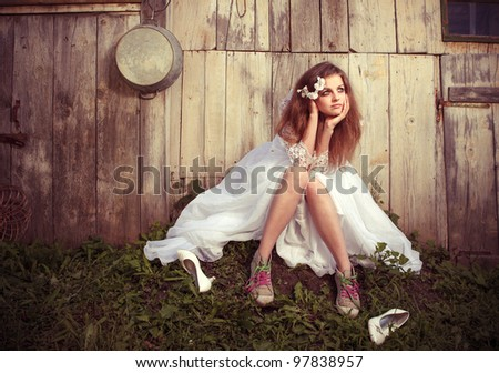 Lonely bride at one with their life problems