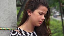 Lonely Depressed Teen Girl