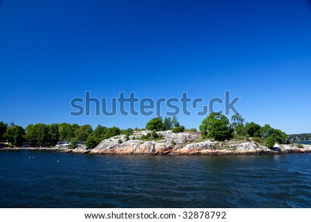 Lonely island in Sweden,Stockholm Archipelago
