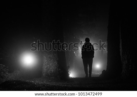 lonely man in the lonely night
