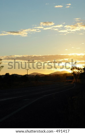 Lonely road at dawn