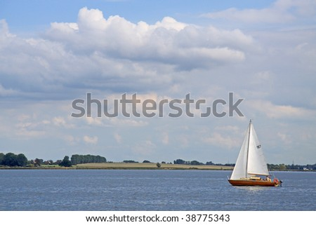 lonely sailing boat